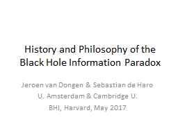 History and Philosophy of the Black Hole Information Paradox