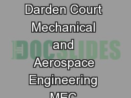 Engineers Way Olsson Hall OLS Rice Hall  Information Technology Engineering Building Darden Court Mechanical and Aerospace Engineering MEC Materials Science MSE Small Hall Chemical Engineering ChE Wil PowerPoint PPT Presentation