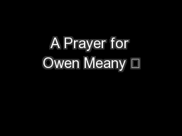 A Prayer for Owen Meany 