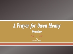 A Prayer for Owen Meany O