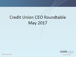 Credit Union CEO Roundtable PowerPoint PPT Presentation