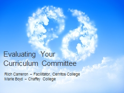 Evaluating Your Curriculum Committee