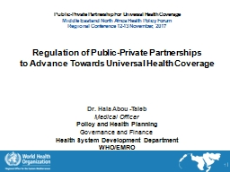 Public-Private Partnership For Universal Health Coverage PowerPoint PPT Presentation