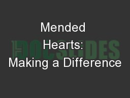Mended Hearts: Making a Difference