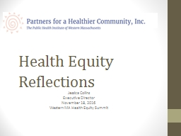 Health Equity Reflections