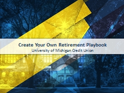 Create Your Own Retirement Playbook