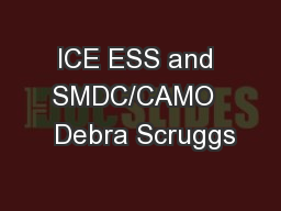 ICE ESS and SMDC/CAMO   Debra Scruggs PowerPoint PPT Presentation