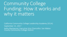 Community College Funding: How it works and why it matters