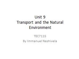 Unit 9 Transport and the Natural
