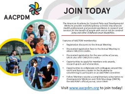The American Academy for Cerebral Palsy and Developmental Medicine provides