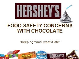 FOOD SAFETY CONCERNS WITH CHOCOLATE