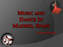 Music and Dance In Madrid, Spain