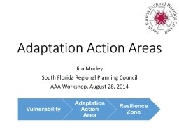 Adaptation Action Areas Jim Murley