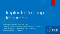 Implantable Loop Recorders