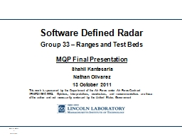 Software Defined Radar