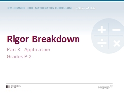 Rigor Breakdown Part 3:  Application