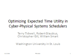 Optimizing Expected Time Utility in Cyber-Physical Systems Schedulers