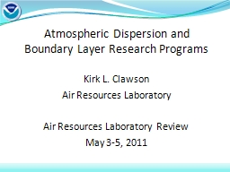 Atmospheric  Dispersion and