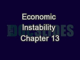 Economic Instability Chapter 13