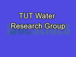 TUT Water Research Group