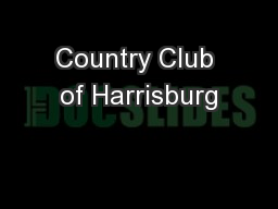 Country Club of Harrisburg