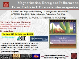Magnetization, Decay, and Influence on Error Fields in HTS accelerator magnets --