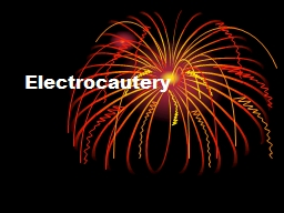 Electrocautery Terms Related to Electrocautery