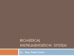 bioMEDical Instrumentation system