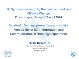 ITU  Symposium on ICTs, the Environment and Climate Change