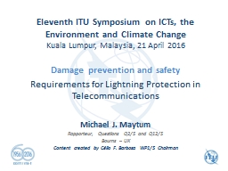 Eleventh ITU Symposium on ICTs, the Environment and Climate Change