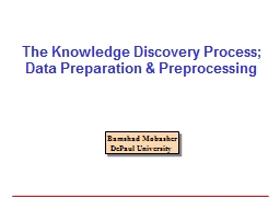 The Knowledge Discovery Process;