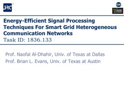 Energy-Efficient Signal Processing Techniques For Smart Grid Heterogeneous Communication