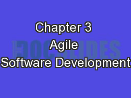 Chapter 3 Agile Software Development PowerPoint PPT Presentation