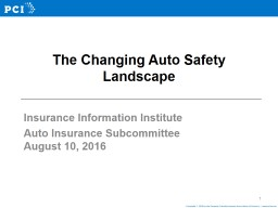 The Changing Auto Safety Landscape