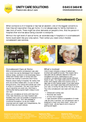 UNITY CARE SOLUTIONS Passionate about care   infounity