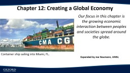 Chapter 12: Creating a Global Economy