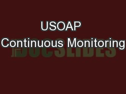USOAP Continuous Monitoring