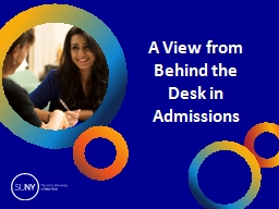 A View from Behind the Desk in Admissions