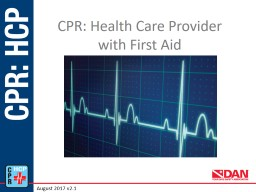 CPR: Health Care Provider
