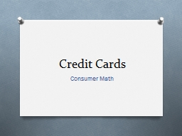 Credit Cards Consumer Math