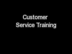 Customer Service Training PowerPoint PPT Presentation