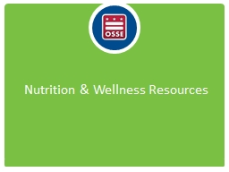 Nutrition & Wellness Resources