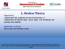 1. Review Theory  Measurements