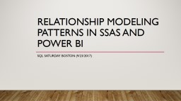 Relationship modeling patterns in SSAS and Power bi