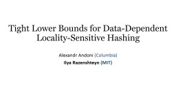 Tight Lower Bounds for Data-Dependent