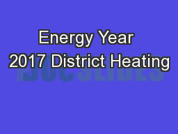 Energy Year 2017 District Heating