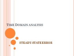 Time Domain analysis STEADY-STATE ERROR