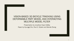 Vision-based 3d bicycle tracking using deformable part model and interacting multiple model filter