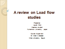 A review on Load flow studies PowerPoint PPT Presentation