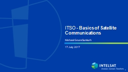 ITSO -  Basics of Satellite Communications